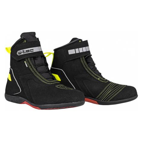 Moto boty W-TEC Sixtreet Barva černo-zelená