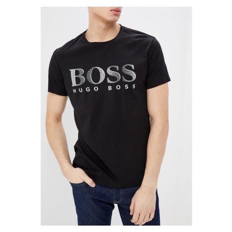 Hugo Boss Hugo Boss pánské černé tričko UPF50+ s nápisem