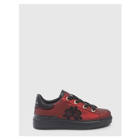 Tenisky La Martina Woman Shoes Satin - Červená