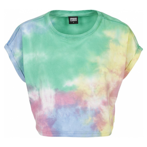 Urban Classics Dámské batikované tričko Dámské tričko vícebarevný