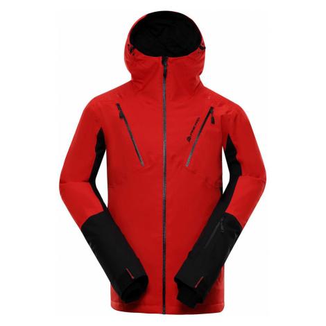 ALPINE PRO MIKAER 3 Pánská lyžařská bunda MJCP368423 červená