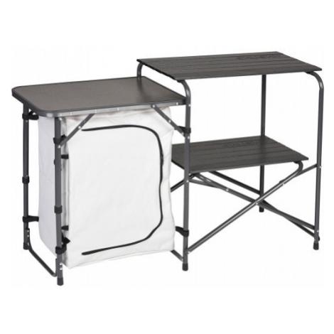 Skládací stolek / kuchyňka HUSKY Moky stříbrná