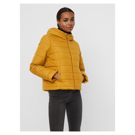 Hořčicová prošívaná zimní bunda VERO MODA Simone