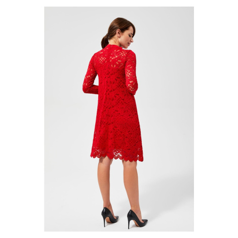 Lace dress - red Moodo