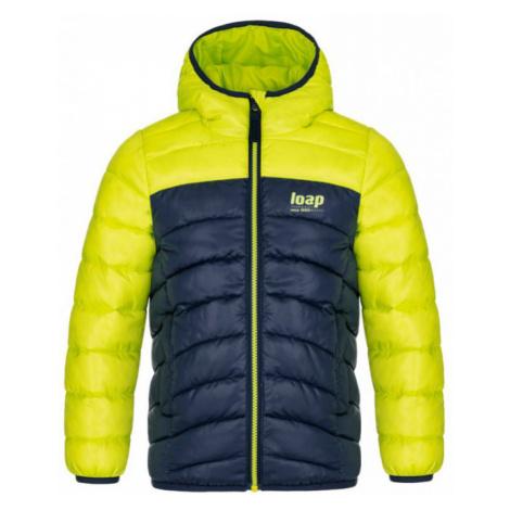 LOAP INBELO Dětská zimní bunda CLK2050N91K Lime Punch / Purple