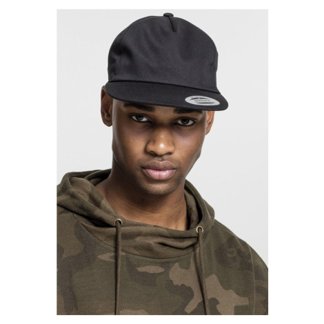 Unstructured 5-Panel Snapback - black Urban Classics