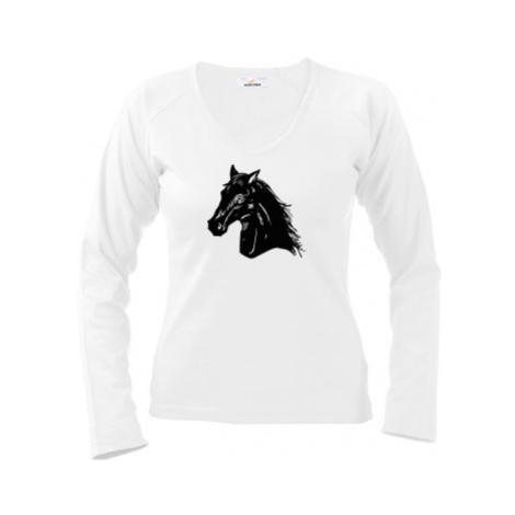 Dámské tričko dlouhý rukáv Kůň