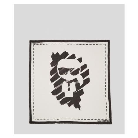 Šátek Karl Lagerfeld Ikonik Graffiti Scarf