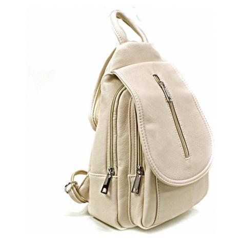 Béžový dámský elegantní batoh Candel Mahel