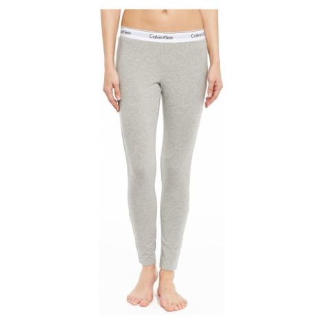 Calvin Klein šedé legíny Legging Pant Basic s bílou širokou gumou