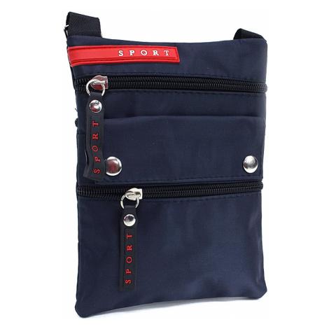 Tmavě modrá malá pánská crossbody taška Rolly