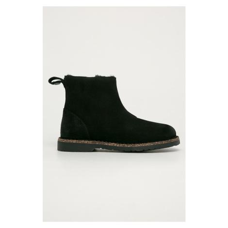 Birkenstock - Kožené kotníkové boty Melrose Shearling