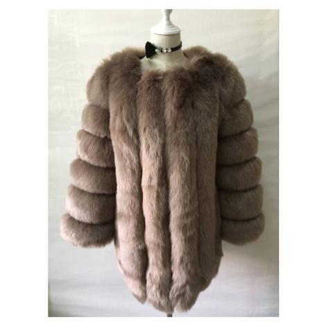 Kožešinový kabátek umělá kožešina bunda kožich s dlouhým rukávem