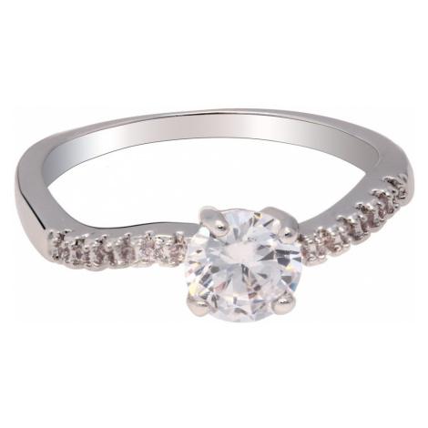 Anna Grace prstýnek Silver Sparkle Crystal 60 - 18 mm