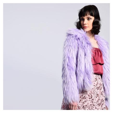 Světle fialový kožíšek Glamorous