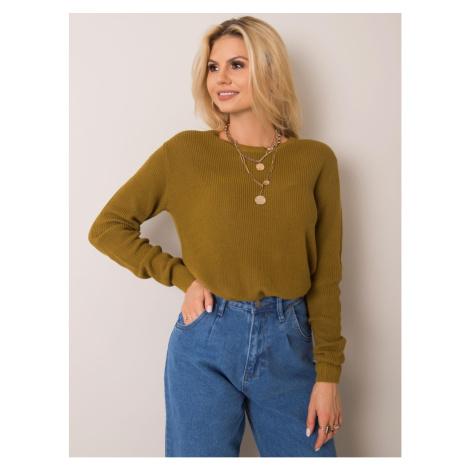 STITCH & SOUL Olive green sweater Fashionhunters