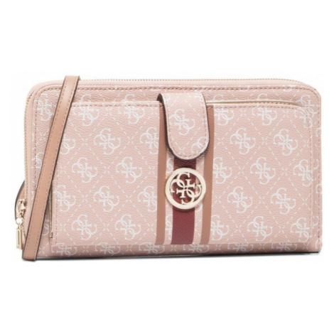 Guess GUESS dámská růžová crossbody kabelka JENSEN TRAVEL WALLET