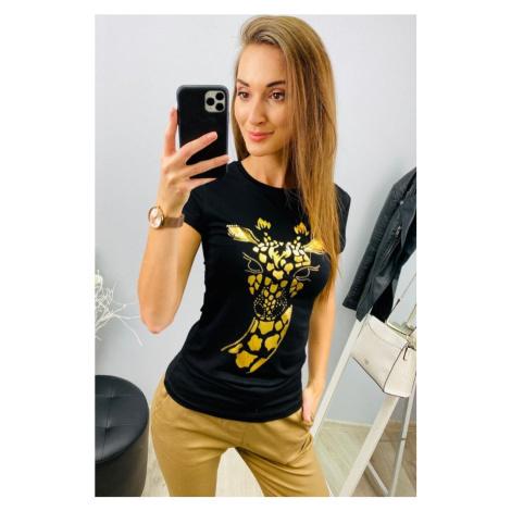 Strečové triko žirafa Barva: Černá