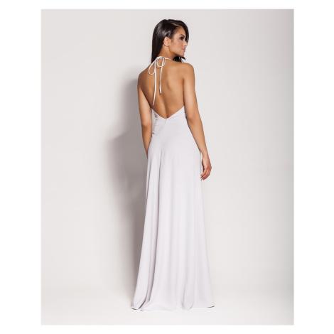 Dlouhé elegantní šaty Pari s vázáním za krk Dursi