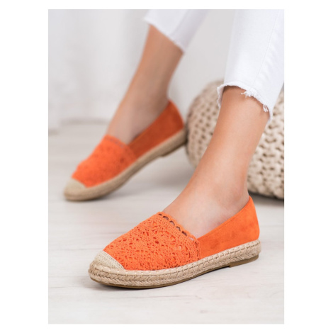 SMALL SWAN SUEDE ESPADRILLES WITH LACE