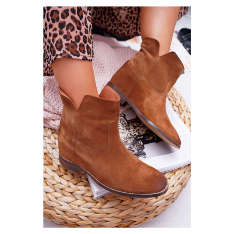 Women's Boots Hide Wedges Brown Nicole 2419 Kesi
