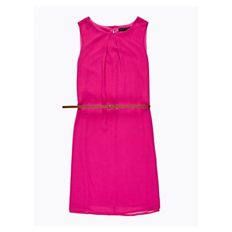 GATE Šifónové šaty s páskem
