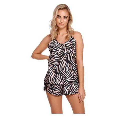 Saténové pyžamo Gizela vzor zebra