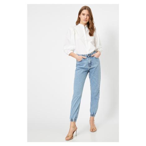 Koton Women's Light Blue Mom Jeans