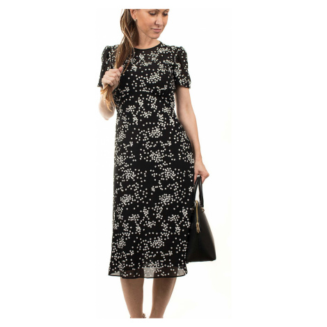 Michael Kors dámské šaty černé s kytičkami