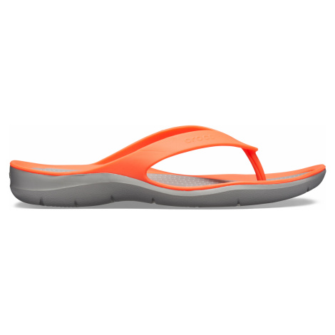 Crocs Swiftwater Flip W Bright Coral/Light Grey W5