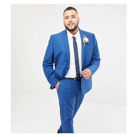 Farah skinny wedding suit jacket in blue