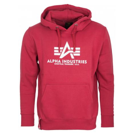 Alpha Industries Mikina Basic Hoody rbf red