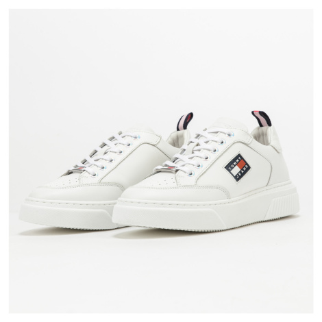 TOMMY JEANS Elevated Leather Cupsole white eur 37 Tommy Hilfiger