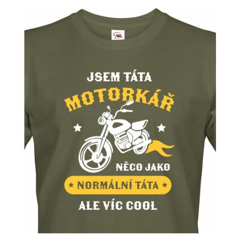 Pánské tričko pro tátu motorkáře - ideální dárek BezvaTriko