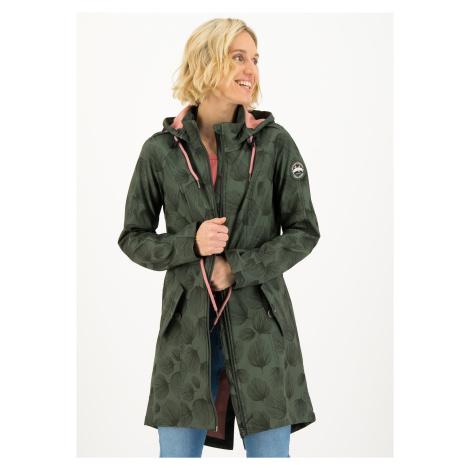 Softshell větruodolný kabát zelený Blutsgeschwister