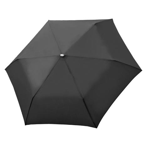 Černý Slim Uni skládací mechanický elegantní dámský deštník Omnie Doppler