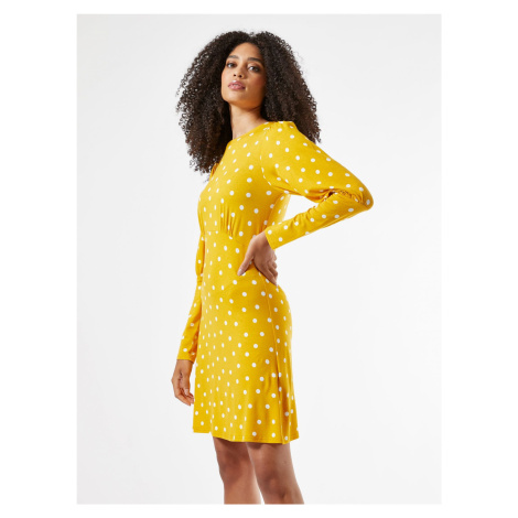 Žluté puntíkované šaty Dorothy Perkins