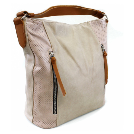 Béžová dámská prostorná kabelka Atif Tapple