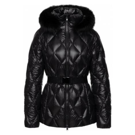 Černá prošívaná zimní bunda ESCADA