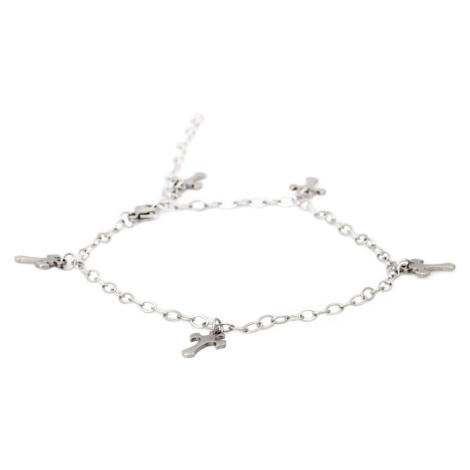 Linda's Jewelry Náramek Simple Kříže kotníkový chirurgická ocel INR041