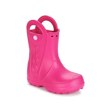 Crocs HANDLE IT RAIN BOOT Růžová