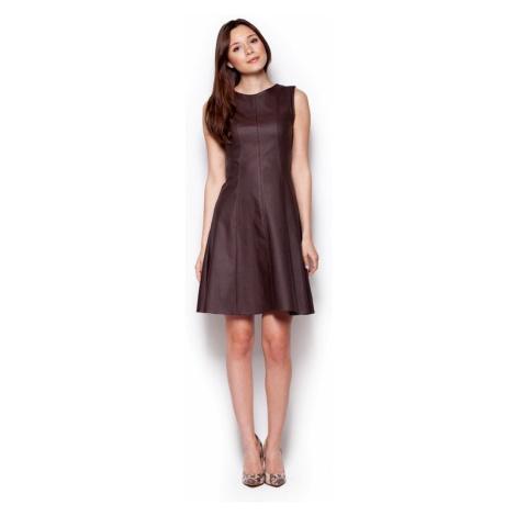 Dámské šaty M342 brown Figl