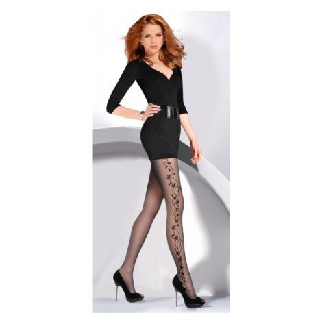 Dámské punčochové kalhoty Gabriella Flora | černá
