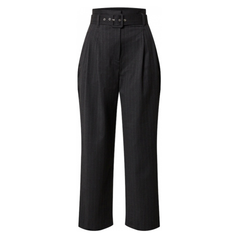 EDITED Kalhoty se sklady v pase 'Kate' tmavě šedá
