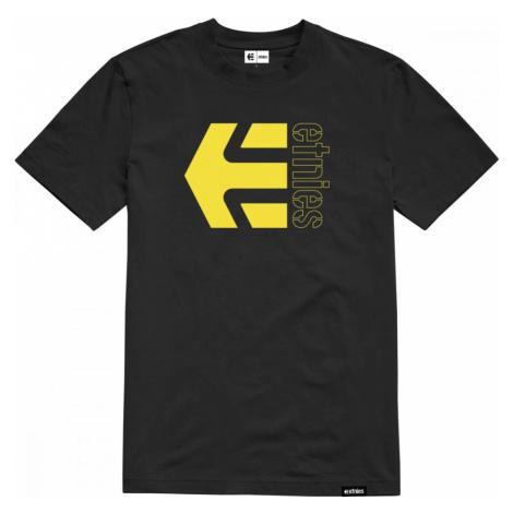 Tričko Etnies Corp Combo black/yellow