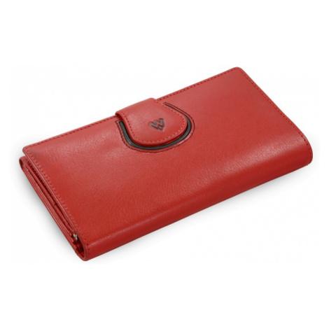 Červená dámská kožená rámová peněženka Lilah Arwel