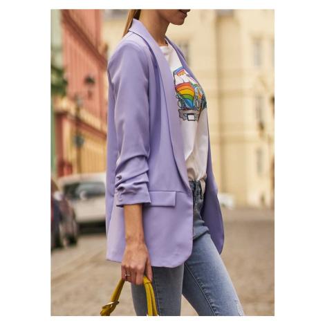 Dámský blazer s řasením - lila CIUSA SEMPLICE