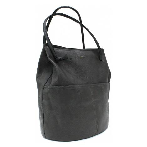 Tmavě šedá prostorná dámská kabelka ve tvaru vaku Lacyann Mahel