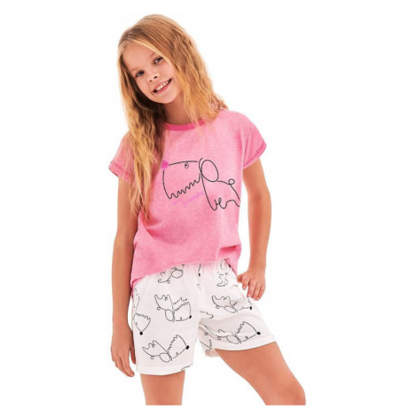 Dívčí pyžamo Hanička růžové dog Taro