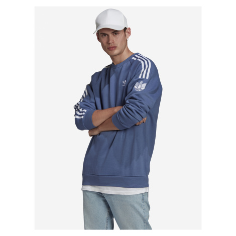 Loungewear Adicolor 3D Trefoil 3-Stripes Mikina adidas Originals Modrá